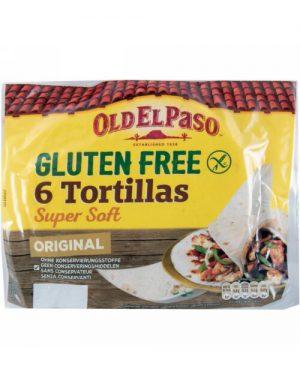 Πίτες Τορτίγια Χωρίς Γλουτένη Old El Paso 6 Tortillas Super Soft Gluten Free 216g