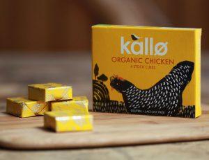 Ζωμός Κοτόπουλου Βιολογικός Σε Κύβους Χωρίς Γλουτένη Και Λακτόζη Kallo Organic Chicken Stock Cubes 66g