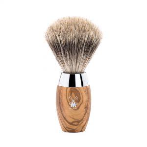 Πινέλο Ξυρίσματος Muhle Kosmo Με Τρίχα Ασβού Fine Badger Olive Wood Brush 35mmx110mm