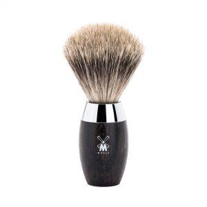 Πινέλο Ξυρίσματος Muhle Kosmo Με Τρίχα Ασβού Fine Badger Bog Oak Brush 35mmx110mm