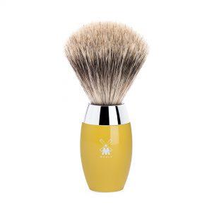Πινέλο Ξυρίσματος Muhle Kosmo Με Τρίχα Ασβού Fine Badger High Grade Resin Citrine Brush 35mmx110mm