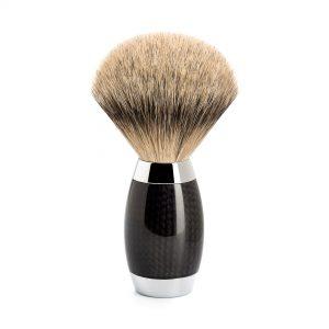 Πινέλο Ξυρίσματος Muhle Edition Με Γνήσια Τρίχα Ασβού Silvertip Badger Carbon Brush 38mmx125mm