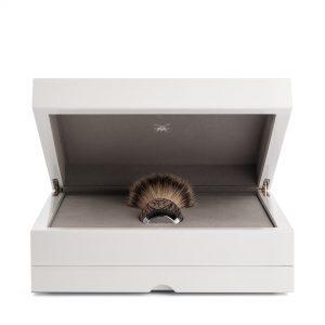 Πινέλο Ξυρίσματος Muhle Edition Με Γνήσια Τρίχα Ασβού Silvertip Badger Oak And Silver Brush 38mmx125mm