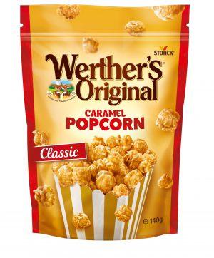 Σνακ Ποπ Κoρν Με Επικάλυψη Καραμέλας Werthers Original Popocorn Caramel Classic 140g