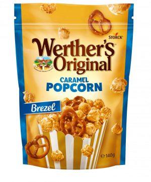 Σνακ Ποπ Κoρν Με Επικάλυψη Καραμέλας και Μπρέτσελ Werthers Original Popocorn Caramel Pretzel 140g