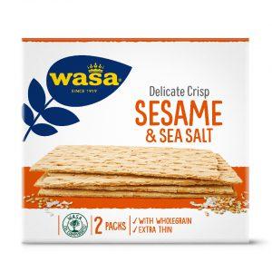 Φρυγανιές Λεπτές Με Σουσάμι Και Αλάτι Wasa Delicate Crisp Sesame And Sea Salt 190g