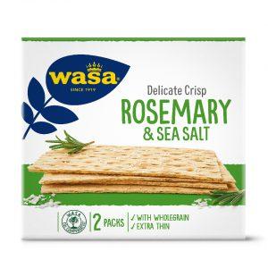 Φρυγανιές Λεπτές Με Δενδρολίβανο Και Αλάτι Wasa Delicate Crisp Rosemary And Sea Salt 190g