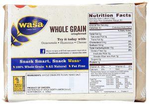 Φρυγανιές Ολικής Άλεσης Wasa Whole Grain Swedish Crispbread 260g