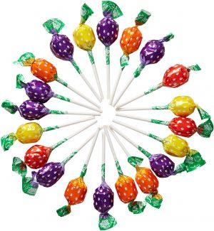 Γλειφιτζούρι Φράουλα Swizzels Fruity Pops Strawberry 8g