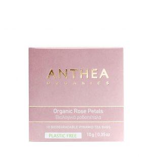 Βιολογικό Αφέψημα Ροδοπέταλα Anthea Organic Rose Petals Plastic Free 10 Biodegradable Tea Bags