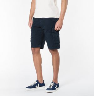 The Project Garments Cotton Gabardine Cargo Shorts Meteor Blue