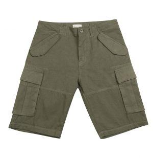 The Project Garments Cotton Gabardine Cargo Shorts Khaki