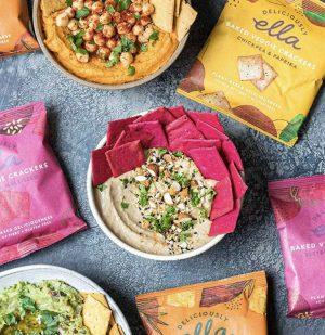 Σνακ Κράκερ Deliciously Ella Baked Veggie Crackers Beetroot and Multiseed 100g
