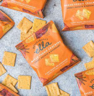 Σνακ Κράκερ Deliciously Ella Baked Veggie Crackers Sweet Potato And Rosemary 100g