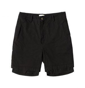 The Project Garments Double Layer Cotton Shorts Black