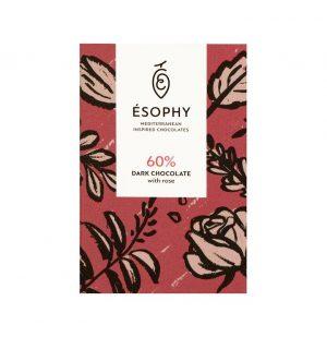 Σοκολάτα Υγείας Esophy Rose Dark Chocolate 50g