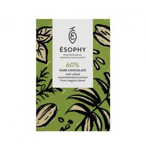 Σοκολάτα Υγείας Esophy Salted Caramelized Pistachios Dark Chocolate 50g