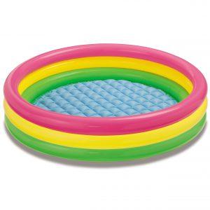 Φουσκωτή Παιδική Πισίνα Πολύχρωμη Intex 147x33cm