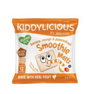 Παιδικό Σνακ Μπουκιές Φρούτων Kiddylicious Smoothie Melts Banana Mango Passion Fruit 12+Months 6g