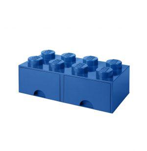 Lego Storage Brick 8 Drawer Blue Limited Edition Color