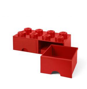 Lego Storage Brick 8 Drawer Red