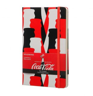 Moleskine Coca Cola Limited Edition Large Plain Notebook Red