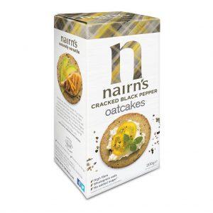 Κράκερ Βρώμης Vegan Nairns Cracked Black Pepper 200g