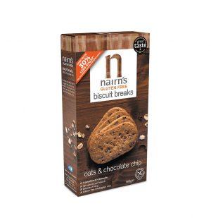 Μπισκότα Βρώμης Nairns Gluten Free Biscuit Breaks Oats And Chocolate Chips 160g