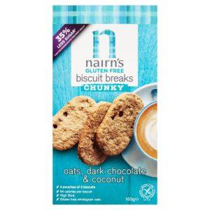 Μπισκότα Βρώμης Nairns Dark Chocolate And Coconut Chunky Oat Biscuit Breaks 160g