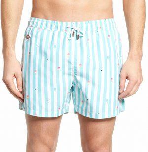 Μαγιό Eyes Cream Blue Nikben Swim Shorts