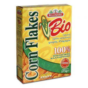Νιφάδες Καλαμποκιού Βιολογικές Millhouse Corn Flakes Bio 375g