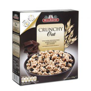 Δημητριακά με Βρώμη και Σκούρα Σοκολάτα Millhouse Crunchy Oat 375g