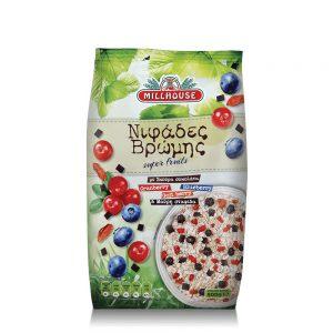 Νιφάδες Βρώμης Millhouse Super Fruits 500g
