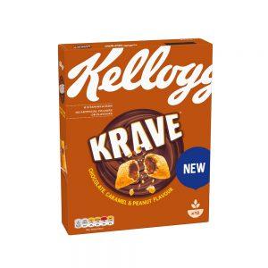 Δημητριακά Kelloggs Krave Chocolate Caramel Peanut 375g