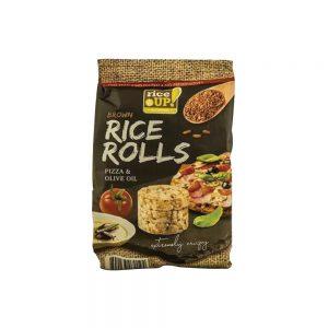 Ρυζογκοφρέτες Καστανού Ρυζιού Μίνι Rice Up Brown Rice Rolls Pizza and Olive Oil 50g