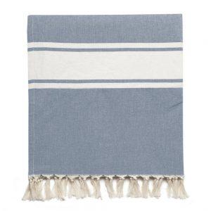 Διπλή Υφαντή Πετσέτα Θαλάσσης Μπάνιου με Εσωτερική Επένδυση The Project Garments Indigo Towel