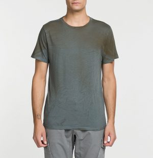 The Project Garments Ανδρική Μπλούζα Λαιμόκοψη Powder Effect Regular Fit Charcoal Grey
