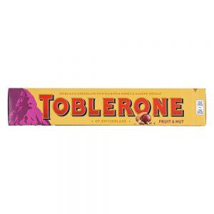 Σοκολάτα Γάλακτος Toblerone Milk Chocolate Fruit and Nut 100g