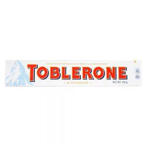 Σοκολάτα Λευκή Toblerone White Chocolate Honey and Almond Nougat 100g