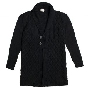 The Project Garments Two Button Wool Blend Cardigan Black