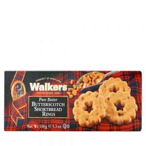Μπισκότα Walkers Pure Butter Butterscotch Shortbread Rings 150g