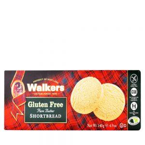 Μπισκότα Walkers Gluten Free Pure Butter Shortbread 140g