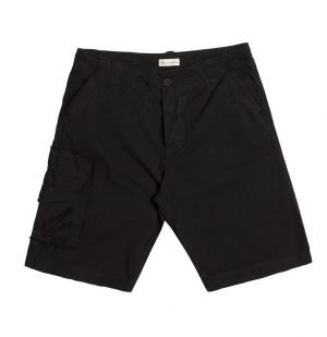 The Project Garments Washed Cotton Cargo Distressed Shorts Black