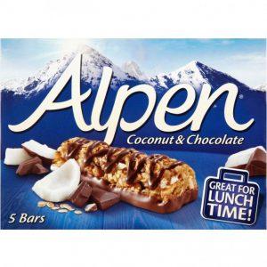 Μπάρες Δημητριακών Alpen Coconut and Chocolate 5x29g