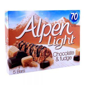 Μπάρες Δημητριακών Alpen Light Chocolate and Fudge 5x19g