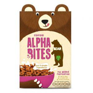 Παιδικά Δημητριακά Ολικής Άλεσης Cocoa Alpha Bites Bear 375g