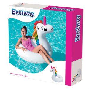 Φουσκωτή Σαμπρέλα Κολύμβησης Μονόκερος Bestway 136x131cm 36123