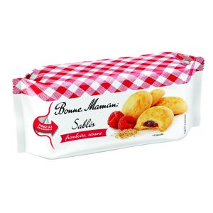 Μπισκότα Γεμιστά με Βατόμουρο και Σουσάμι Bonne Maman Sables Framboise Sesame 150g