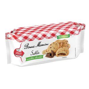 Μπισκότα Γεμιστά με Σοκολάτα και Φουντούκι Bonne Maman Sables Noisettes Chocolat 150g