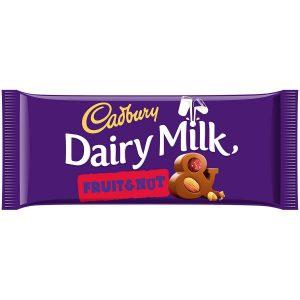 Σοκολάτα Γάλακτος Cadbury Dairy Milk Fruit and Nut 110g